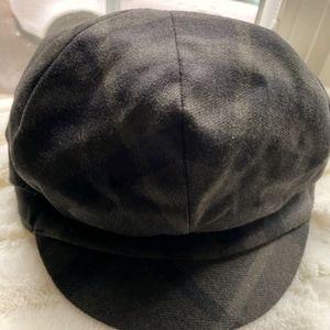 Burberry Plaid Wool Women's Newsboy Hat